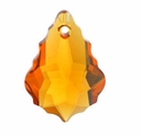 16 x 11mm Topaz Swarovski 6090 Baroque Pendants