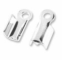 Silver Plated Fold Over Crimp Connecter (25PK)
