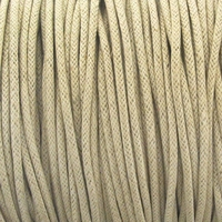 Beige 2mm Waxed Cotton Craft Cord (1YD)