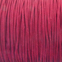 Hot Pink 1.5mm Waxed Cotton Craft Cord (1YD)