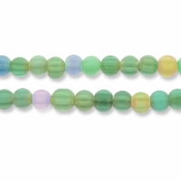Chevron 7-8mm Glass Beads Pastel Colors 15 Inch Strand