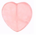 25mm Rose Quartz Heart Pendant (1PC)