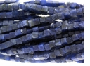 4mm Blue Sodalite Cube Beads 16 inch Strand
