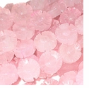 12mm Rose Quartz Flower Beads 16 inch Strand
