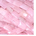 Rose Quartz 10 x 14mm Pillow Beads 16 inch Strand