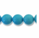 Turquoise 8mm Round Light Blue Beads 16 inch Strand