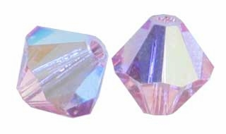 Light Rose AB 5328 5mm Swarovski Crystal XILION Bicones Beads (10PK)