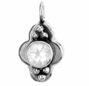 Round Faceted Crystal Gemstone Pendant