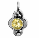 Round Faceted Citrine Gemstone Pendant