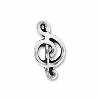 MIOVI� Silver Plated Musical Note LH Bead (1PC)