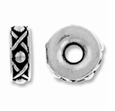 Antique Silver 10mm Lg. Hole Legend Spacer Bead