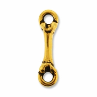 Antique Gold Bone Link