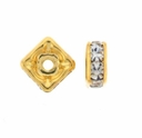 5mm Crystal Gold Plated Squaredelle (5PK)
