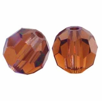 Majestic Crystal® Smokey Topaz 6mm Faceted Round Crystal Beads (24PK)