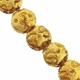 13mm Topaz and Gold Foil Design Disc Lampwork Beads (5PK)