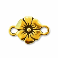 Antique Gold Flower Link