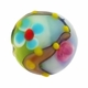 16mm Enchanted Garden Design Disc Lampwork Beads (5PK)