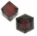 Burgundy 5601 Swarovski 6mm Cube Bead (1PC)