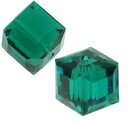 Emerald 5601 Swarovski 6mm Cube Bead (1PC)