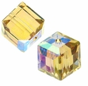 Light Colorado Topaz AB 5601 Swarovski 6mm Cube Bead (1PC)