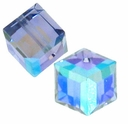 Tanzanite AB 5601 Swarovski 6mm Cube Bead (1PC)