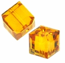 Topaz 5601 Swarovski 6mm Cube Bead (1PC)