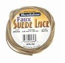 Faux Suede 3.2mm Lace Brown 16.4ft Coil
