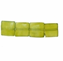 Olivine Jade 8x8mm Pillow Beads 16 inch Strand