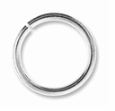 8mm Silver Plated Brass Jump Ring 18ga (10 PK)
