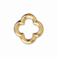 Bright Gold Medium Quatrefoil Link