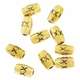 Antiqued Gold XX Barrel Spacer Beads (10PK)