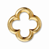 Bright Gold Large Quatrefoil Link