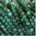 Moss Agate 4mm Round Beads 16 inch Strand