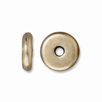 6mm Brass Oxide Disk Heishi Spacers (10PK)