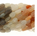 Multi-Color Moon Stone Oval 9x7mm Beads 14 inch Strand