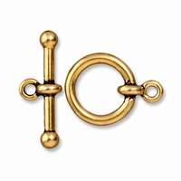 Antiqued Gold 5/8 Inch Anna's Toggle Clasp