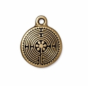 Antique Gold 20mm Labyrinth Charm