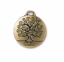 Antique Gold Tree of Life Charm