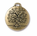 Antique Gold Tree of Life Pendant