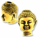 Antique Gold Buddha Bead