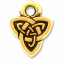 Antique Gold Celtic Triad Drop Charm