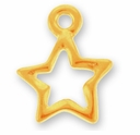 Gold Open Star Charm