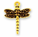 Antique Gold Dragonfly Charm