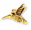 Antique Gold Hummingbird Charm