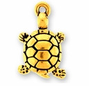 Antique Gold Turtle Charm