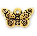 Antique Gold Spiral Butterfly Charm