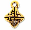 Antique Gold Celtic Weave Drop Charm