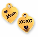 Antique Gold Love Mom Charm