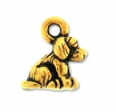 Pewter Gold Dog Charm