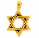 Pewter Gold Large Star Of David